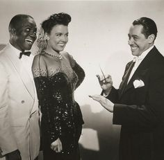 "Promotional still for the film Stormy Weather (1943) featuring Duke Ellington, Bill ""Bojangles"" Robinson and Lena Horne."
