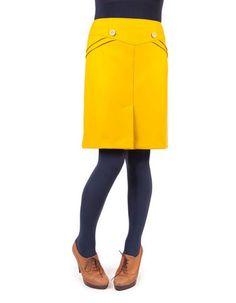 Okergele rok - Mis-en-plis - Kinderkleding online - Pepatino.be - Webwinkel voor kleine kleertjes - Aalst
