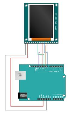 1.8TFT Arduino Tutorial Connections