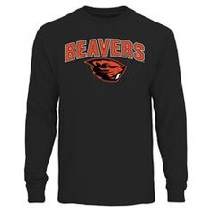 b62b41f3 Black Oregon State Beavers Proud Mascot Long Sleeve T-Shirt Athletic Shop, Oregon  State