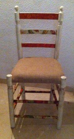Cadira amb decoupage