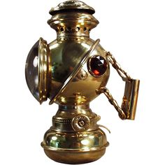 Old, Bicycle Lamp - The Unique, Kerosene Fueled at Ogee's Antiques Exclusively on Ruby Lane