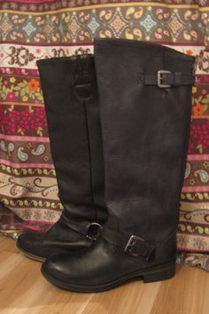 new boots vs. old boots, both from Steve Madden