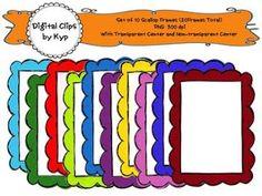 """FREE LESSON - """"10 Digital Scallop Frames"""" - Go to The Best of Teacher Entrepreneurs for this and hundreds of free lessons. Pre-Kindergarten - 12th Grade http://www.thebestofteacherentrepreneurs.net/2017/09/free-misc-lesson-10-digital-scallop.html"""