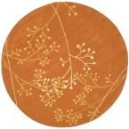 Soho Rust (Red) 8 ft. x 8 ft. Round Area Rug