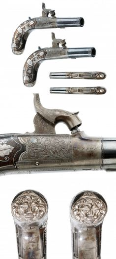 A PAIR OF ENGLISH PERCUSSION POCKET PISTOLS BY SMITH OF LONDON, circa 1840.