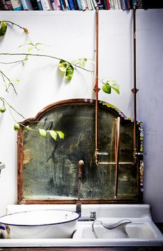 thinking about making a pipe faucett for the bath, love the deconstructed look