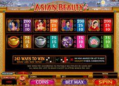 Таблица выплат слота Азиатки