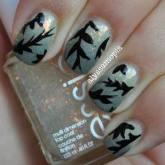 A fresh take on fall inspired nails #autumn #nails