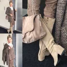 STYLISH VINTAGE LOOK Blouse #Sandro, Pants #Closed, Shirt #High, Jacket #CarolinaHerrera, Boots #Chanel Empire Style, Carolina Herrera, Sandro, Vintage Looks, Fascinator, Yves Saint Laurent, Lace Dress, Fashion Show, Chanel