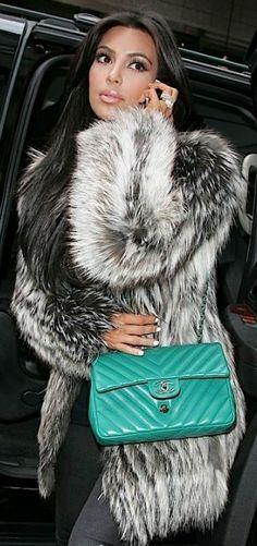 Chic In The City- Kim K Chic City Glamour- #Fur Via -LadyLuxuryDesigns