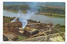 Chattanooga TN Tennessee River Cobustion Engineering Company VINTAGE POSTCARD