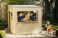 Modern Plywood Playhouse - it can be stored flat!