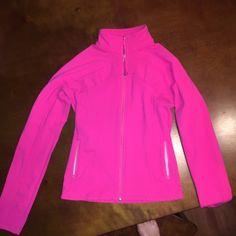 Lululemon forme jacket Hot pink, like new. Size 2-4. No pilling or major wear. Super comfortable! Cheaper on merc lululemon athletica Jackets & Coats