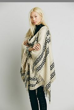 Free People Kennedy Pullover Poncho