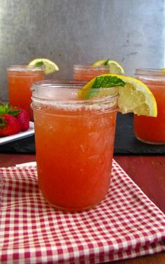 strawberry watermelon cooler 1 Skinny Strawberry Watermelon Coolers
