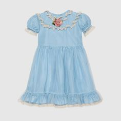 Gucci Children's silk and tulle dress Tulle Dress, Dress P, Baby Dress, Girls Designer Clothes, Zara, Girls Dresses, Summer Dresses, Kids Fashion, Fashion Design