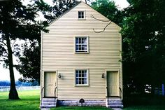 Pleasant Hill, Kentucky, was a Shaker religious community from 1805 through Shakertown, as it is known by the locals, is about 25 mil. Beautiful Architecture, Architecture Design, Pleasant Hill, American Houses, Shaker Style, Interior Lighting, Restoration, Shed, Outdoor Structures