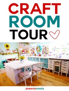 Craft Room Tour: My Organization and Storage Projects - Jennifer Maker - Tour my craft room for great organization and storage ideas! Ikea Craft Room, Craft Room Storage, Paper Storage, Craft Organization, Storage Ideas, Craft Rooms, Office Storage, Storage Solutions, Ikea Handwerksraum
