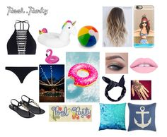 """""""Pool Party✌🏼️✨By:Amie🌸"""" by anneamiejole ❤ liked on Polyvore featuring Zimmermann, IPANEMA, Casetify, Boohoo, Pillow Decor and Pier 1 Imports"""