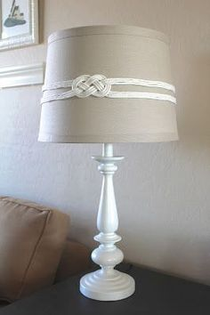DIY nautical rope knot lampshade tutorial Çocuk Odası – home accessories Lampshades, Decor, Diy Outdoor Lighting, Lamp, Nautical Diy, Nautical Decor, Lamp Shades, Diy Lamp Shade, Nautical Bedroom