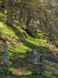 An Old Gate opens on to a Rocky Hillside Path in Scotland ....