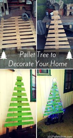 To grab the whole details about construction simply checkout this DIY pallet tree tutorial and do clone this tree modern to bring an instant festival vibe to Pallet Wood Christmas Tree, Pallet Tree, Wooden Christmas Decorations, Outdoor Christmas, Christmas Projects, Holiday Crafts, Christmas Time, Tree Designs, Diy And Crafts