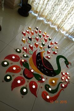 latest Simple Rangoli Designs Images Photos for Diwali 2018 ~ Happy Diwali Images Wishes 2018 Simple Rangoli Designs Images, Rangoli Designs Latest, Rangoli Designs Flower, Small Rangoli Design, Colorful Rangoli Designs, Flower Rangoli, Beautiful Rangoli Designs, Kolam Designs, Easy Rangoli Designs Diwali
