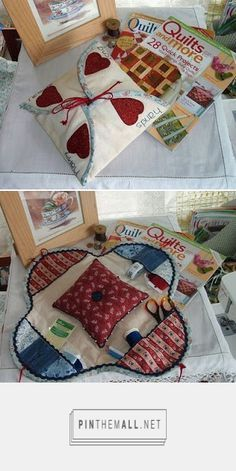 "Lindo porta utensilios de costura ""a good yarn: Sewing Caddy for a Friend. - a grouped images picture - Pin Them All"", ""Idea for mini sewing kit - love Sewing Caddy, Sewing Box, Sewing Notions, Sewing Kits, Sewing Tutorials, Sewing Hacks, Sewing Patterns, Fabric Crafts, Sewing Crafts"