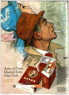 Original-Werbung/ Anzeige 1968 - 1/1 SEITE - ASTOR CIGARETTEN - ca. 190 x 250 mm