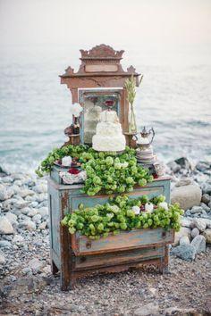 Amazing shipwrecked wedding inspiration.