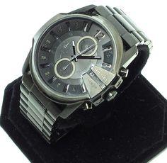 DIESEL⚡️ men's Watch (DZ4180) black CHRONOGRAPH S.STEEL WATER RESISTANT #Diesel #LuxurySportStyles