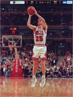 Steve Kerr, who played to the Chicago Bulls from 1993 to 1998.