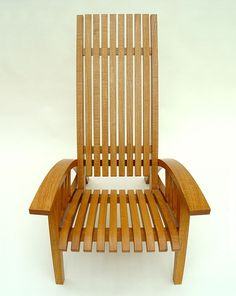 Bespoke steamer chair in chestnut Garden Chairs, Garden Furniture, Outdoor Furniture, Furniture Makers, Wood Folding Chair, Stool Chair, Outdoor Chairs, Outdoor Decor