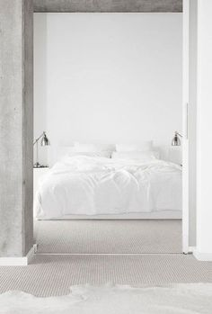 all white bedroom design