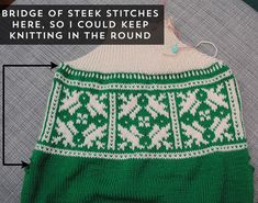A technical look at my Innsbruck pullover