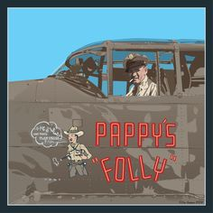 Vector illustration of one of my personal heroes, Pappy Gunn.