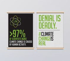 Protest Climate Sign  Climate Change is Real  door GabRoveraDesign