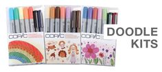 Doodle Kits (7 pc. sets) – 3 new items!  First up – our newest sets! Ciao Doodle Kits make drawing more fun. Each of these three themes – Rainbow, Nature, and People – are color coordinated to deliver great results. Each seven-piece kit includes two Multiliners and five markers.  Features: • Color-coordinated products • Specially matched markers • Wide range of products  #Copic
