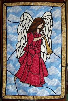 Stained Glass Angels | Fabric Stained Glass Angel