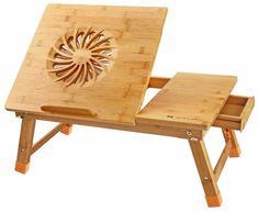 Laptop Desk Nnewvante Adjustable Laptop Desk Table 100% Bamboo