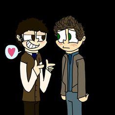 Marius and courfeyrac