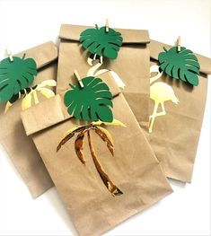 Tropical Birthday Party Kraft Favor Bags, Flamingo Treat Bags, Aloha Hawaii Goody Bags, Tropical Baby Shower Bags, Beach Luau Party Supplies by MiracleForKidsRU on Etsy Birthday Party Favors, Birthday Party Decorations, Birthday Parties, 10th Birthday, Happy Birthday, Flamingo Birthday, Flamingo Party, Party Favor Bags, Goodie Bags