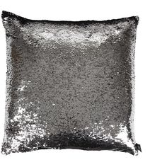 Aviva Stanoff Two Tone Mermaid Sequin Cushion - Black/Silver - 50x50cm ($120) ❤ liked on Polyvore featuring home, home decor, throw pillows, black, black home decor, black throw pillows, silver home accessories, black accent pillows and silver sequin throw pillow
