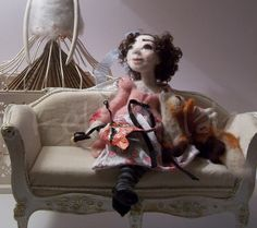 Fox a needle felted art doll ♡ by feltoohlala on Etsy