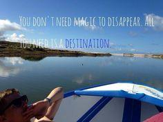 You dont' ned magic to disapper. all you need is a destinatio #boat #ship #barca #sea #mare #travel #viaggiare #citazione #citation #quotes