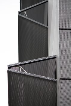 perforated, metal shutter - side-view