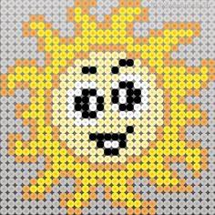 Sol i perler Hama Beads Patterns, Beading Patterns, Alice In Wonderland Cross Stitch, Perler Bead Mario, Peler Beads, Bobble Stitch, Melting Beads, Pattern Pictures, Plastic Canvas Patterns