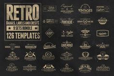 Check out 126 Retro Badges, Labels & Crests by Zeppelin Graphics on Creative Market