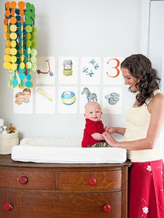 Tons of cute DIY nursery ideas! #TheVioletHours via @gabrielle Blair